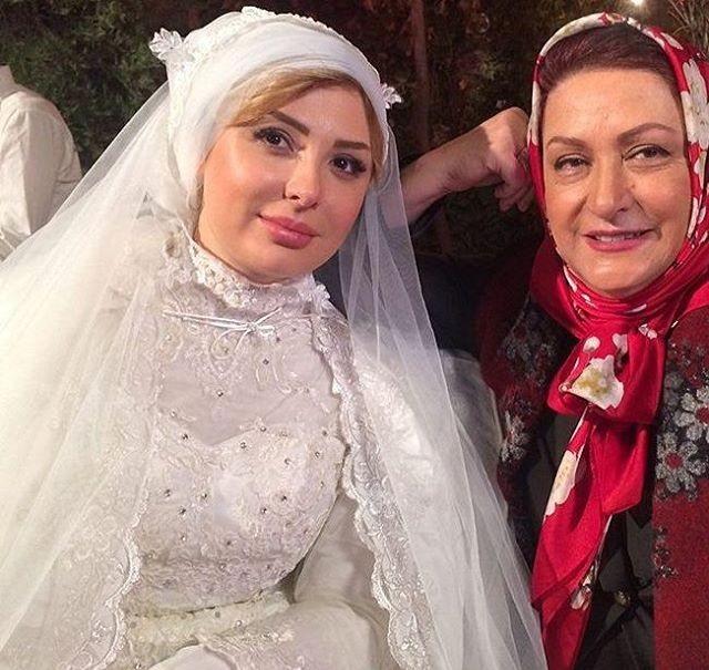 نیوشا ضیغمی با لباس عروس