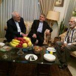 عیادت محمدجواد ظریف از جمشید مشایخی در منزلش!