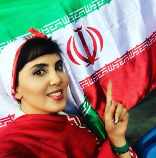 لیلا بلوکات تماشاگر والیبال ایران