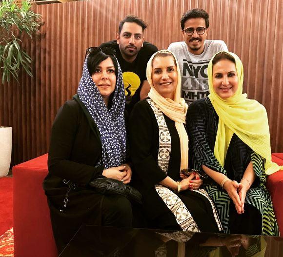 بازیگران در خیریه بوستان شکوه مشهد