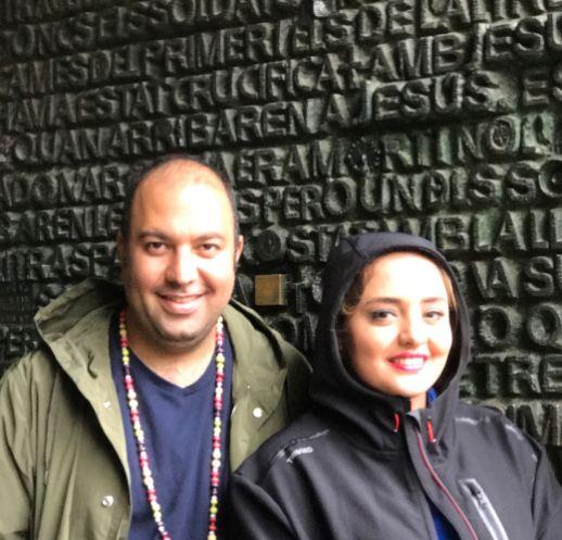 نرگس محمدی و همسرش در اسپانیا