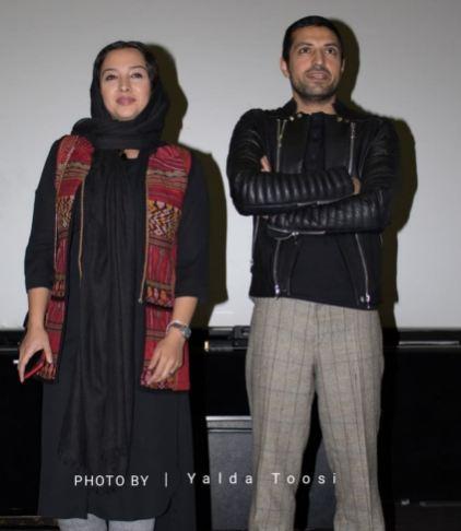 اشکان خطیبی و همسرش در اکران زرد