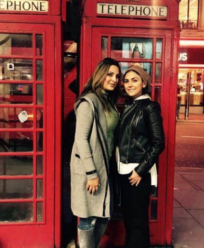 پوشش هدی زین العابدین در لندن