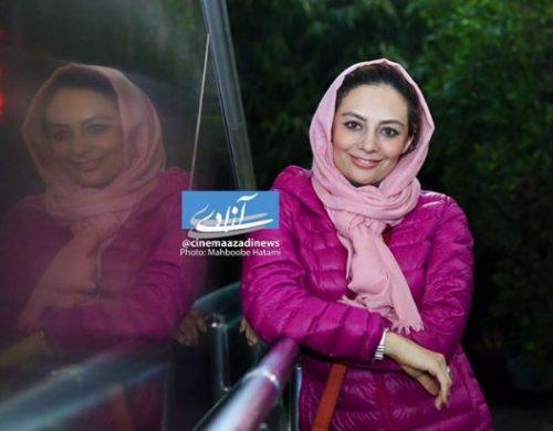 یکتا ناصر و همسرش در پردیس سینما آزادى