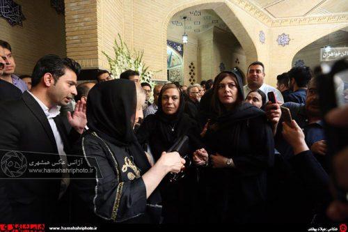 بازیگران در مراسم ختم ناصر ملک مطیعی