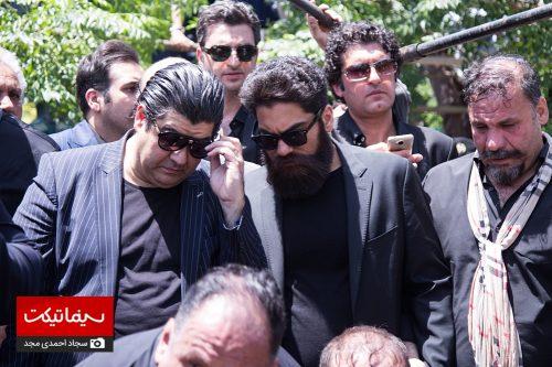مراسم تدفین ناصر ملک مطیعی