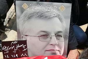 مراسم تشییع پیکر سید مصطفی موسوی با حضور مجری های مشهور!