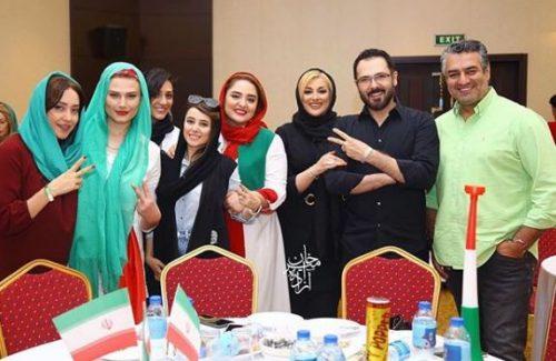 مراسم تماشای فوتبال ایران و مراکش