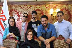 هنرمندان در نشست رسانه ای سریال ساخت ایران ۲ در اعتراض به قاچاق +تصاویر