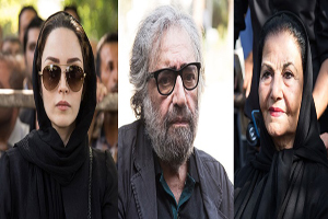 حضور چهره های مشهور در مراسم تشییع پیکر استاد عزت الله انتظامی +تصاویر