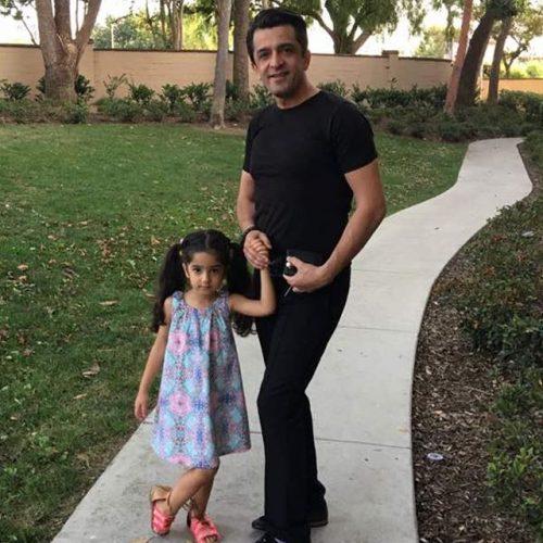 مجید یاسر و دخترش آریسا