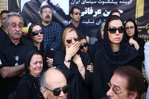 دوبلورهای مشهور در مراسم تشییع حسین عرفانی +تصاویر