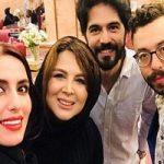 عکس های شهره سلطانی در جشن پایان سریال لحظه گرگ و میش