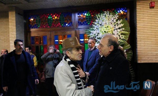 چهرههای سرشناس در مراسم ترحیم حسین محب اهری بازیگر ایرانی +تصاویر