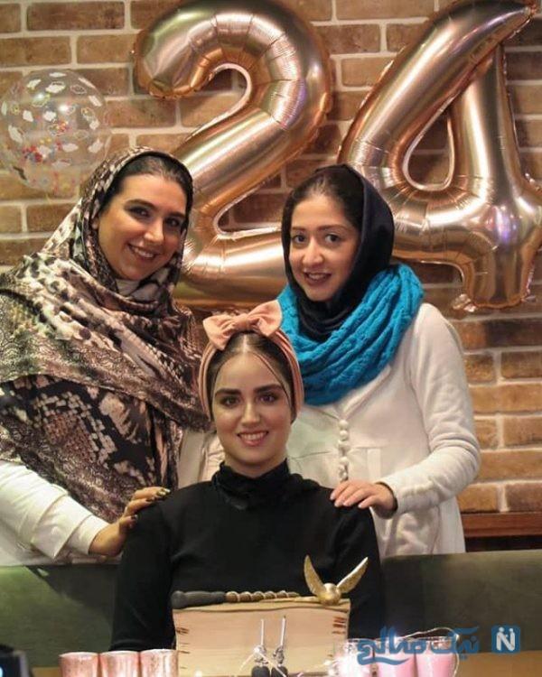 دو جشن لاکچری برای تولد هانیه غلامی بازیگر جوان +تصاویر