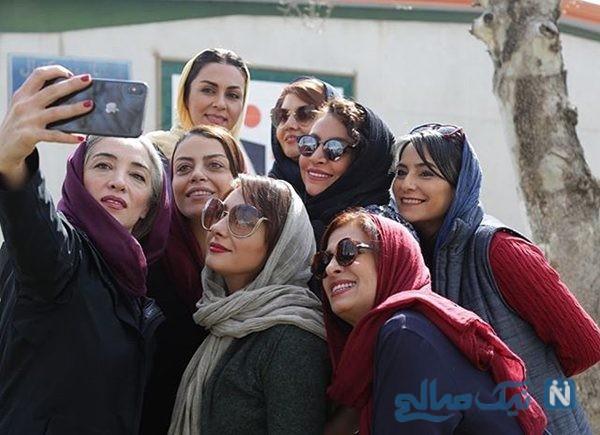 عکس های تیم اسکواش بازیگران زن ایرانی بعد از یک دیدار دوستانه