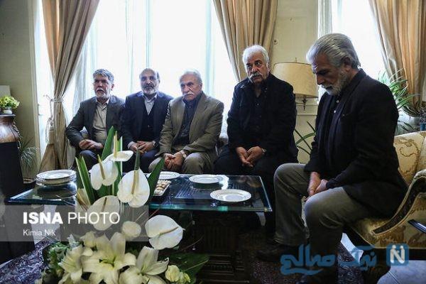حضور چهره های سرشناس در منزل مرحوم جمشید مشایخی +تصاویر