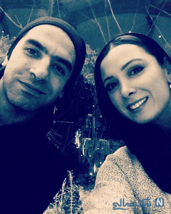 فرناز رهنما و همسرش
