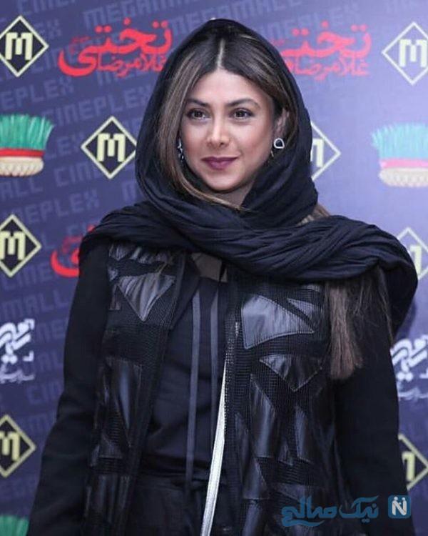 تیپ متفاوت آزاده صمدی بازیگر کشورمان در اکران فیلم غلامرضا تختی +تصاویر