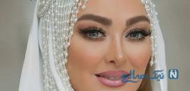مراسم لاکچری ازدواج الهام حمیدی و میکاپ زیبای وی در شب عروسی اش +تصاویر