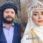 بازیگران در پشت صحنه سریال نون خ با لباس زیبای محلی +تصاویر