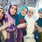 عکس های نعیمه نظام دوست و علی صادقی از پشت صحنه سریال طنز نوروزی