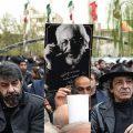 حضور چهره های سرشناس در مراسم تشییع جمشید مشایخی از لیلا حاتمی تا علی نصیریان +تصاویر