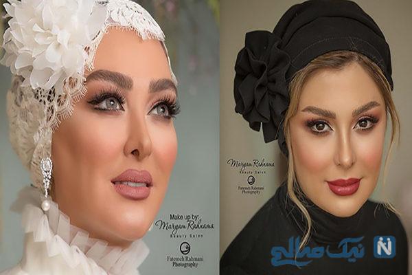 میکاپ بازیگران مشهور زن کشورمان به عنوان مدل آرایشی از تولد بهاره تا عروسی الهام +تصاویر