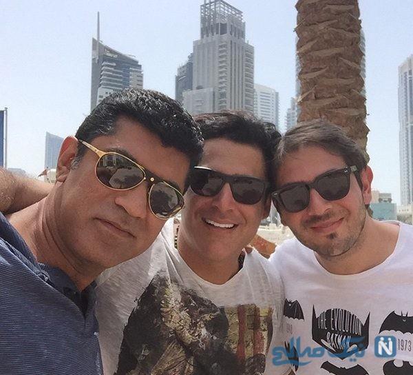 ازدواج برادر محمدرضا گلزار و تبریک متفاوت وی به برادرش بردیا +تصاویر