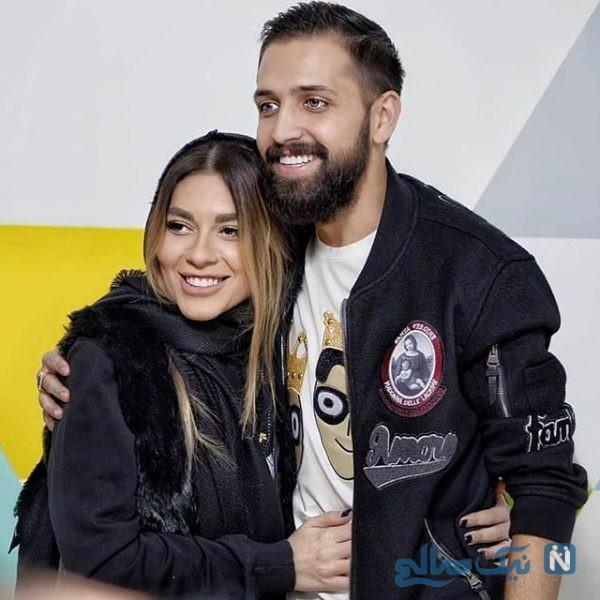 افشانی و همسرش