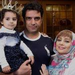 جشن تولد منوچهر هادی در کنار همسر هنرمندش یکتا و دخترش سوفیا +تصاویر