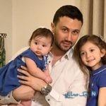 زن شاهرخ استخری در تولد مرد زندگی اش در کنار همسر و دخترانش +تصاویر