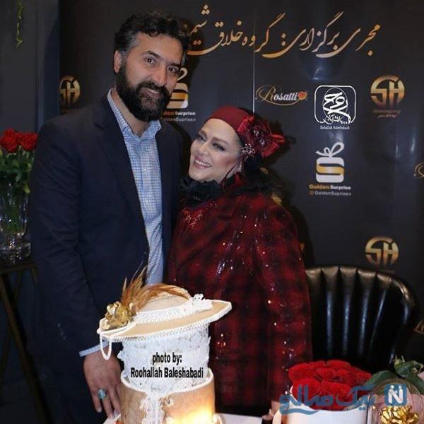 عاشقانه بهاره رهنما و همسرش