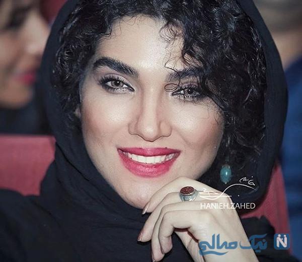 گریم سارا رسول زاده بازیگر زیبای ایرانی برای فیلم سینمایی هفت