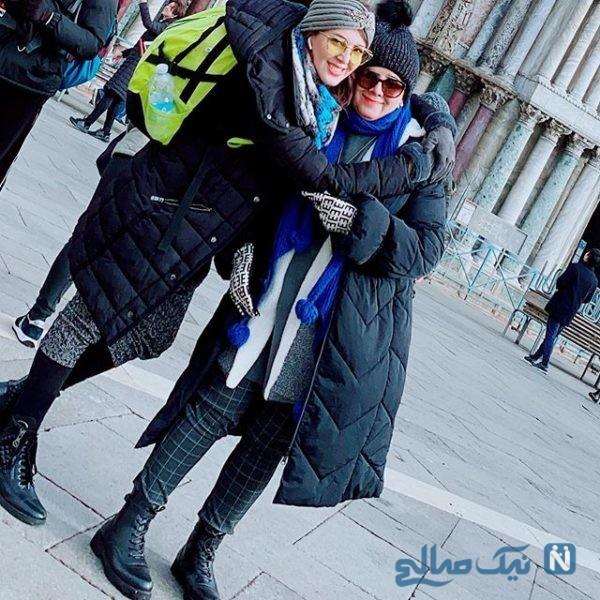 لیلا بلوکات و مادرش