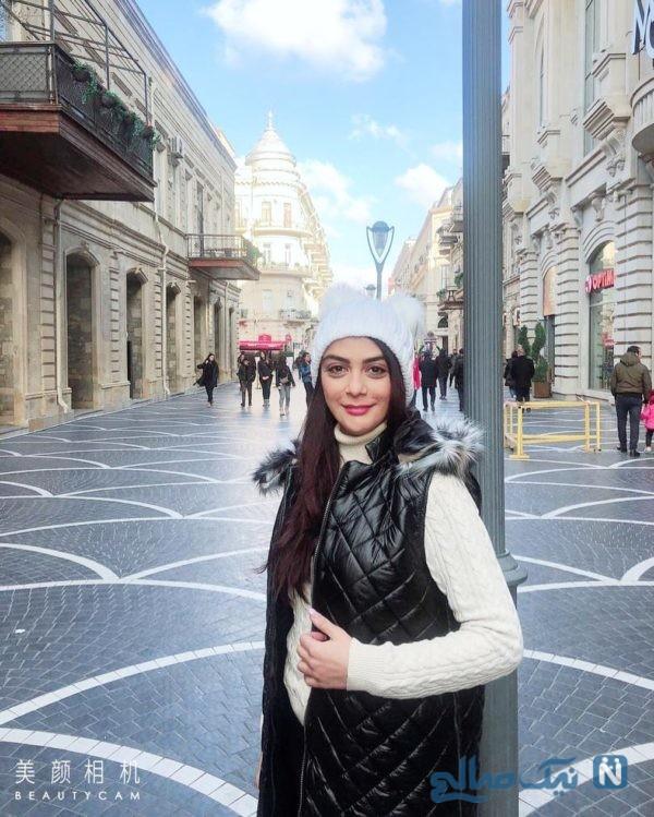 عکس های مونا و مارال فرجاد و خانم های بازیگر در باکو آذربایجان