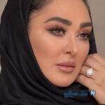 ژست حاملگی الهام حمیدی بازیگر مشهور در کنار مادرش
