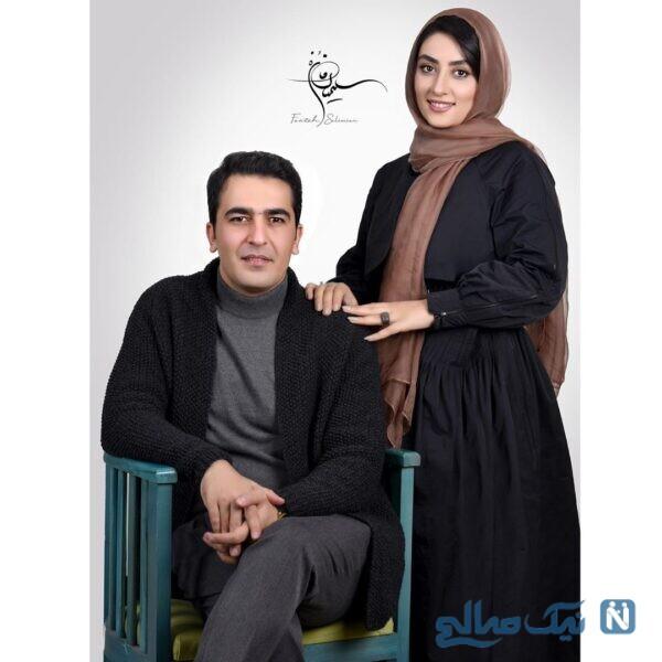 الهام طهوری و همسرش
