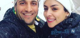 مارال بنی آدم و همسرش علی سرابی بازیگر نقش سارا در هم گناه
