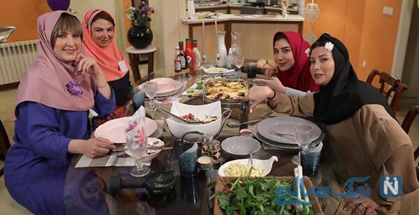 شام ایرانی بازیگران زن با تم قاجاری در خانه نسیم ادبی