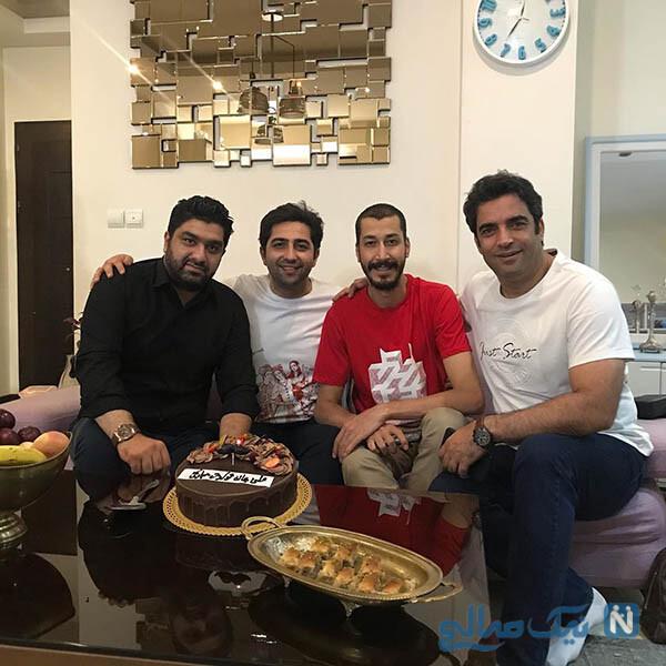 جشن تولد علی سخنگو در کنار آقای کارگردان و همسرش