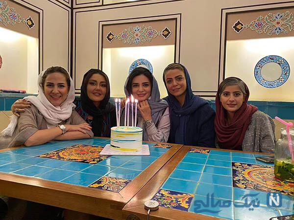جشن تولد لیندا کیانی در کنار دوستان هنرمندش