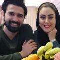 تولد نیلوفر شهیدی بازیگر جوان در کنار همسرش با میکاپی زیبا