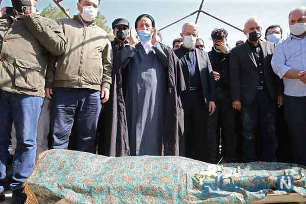 مراسم خاکسپاری آزاده نامداری