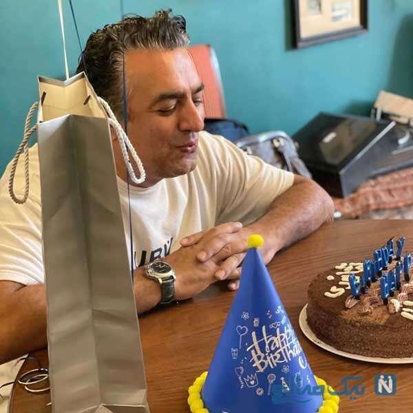 جشن تولد سام نوری بازیگر سریال گاندو در کنار دوستانش