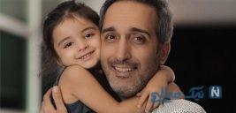 امیر مهدی ژوله و همسر و دخترش در رستوران سیامک انصاری