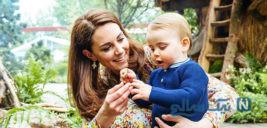 تصاویر زیبا از کیت میدلتون و فرزندانش در یک باغ سرسبز