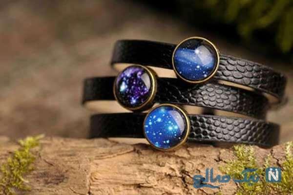 دستبند با الهام از کهکشان ها و جواهرات جادویی