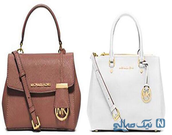 کیف زنانه دو رنگ با برند برندMichael Kors