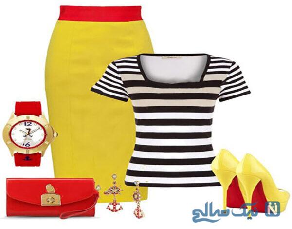 لباس زنانه با رنگ شاد